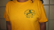 Aviation High School Girl's Volleyball Assistant Coach, Millat, is featured wearing our special Gym shirt.